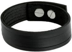 Cow Style Černý kožený náramek London CS03-5001