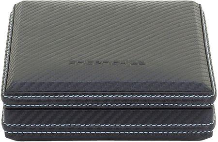 Friedrich Lederwaren Černá kazeta na manžetové knoflíčky Carbon 32053-5