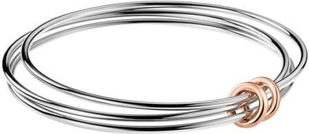 Calvin Klein Potrójna bransoleta ze stali Zwinny KJ5HMD2001 (średnica 6,5 cm)
