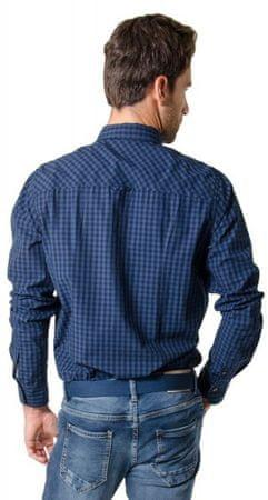 269730115170 Heavy Tools Pánska košeľa s dlhým rukávom Reply W16-411 Blue ...