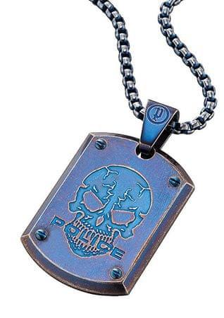 Police Niebieski męska naszyjnik Prowler PJ25607PSEBL-S
