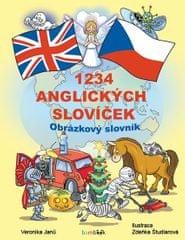 Janů Veronika: 1234 anglických slovíček - Obrázkový slovník pro děti