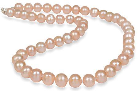 JwL Luxury Pearls Naszyjnik z pereł prawdziwego łososia JL0267 srebro 925/1000
