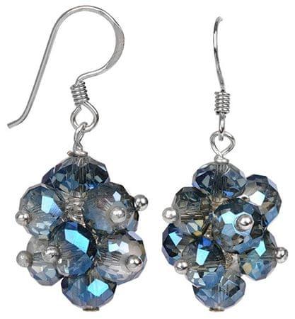 JwL Luxury Pearls Žiarivé náušnice z brúsených svetle modrých kryštálov JL0271 striebro 925/1000