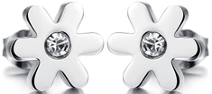 Troli Drobné kytičkové náušnice s krystalem