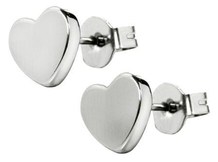 Troli Apró szív nemesacél fülbevalóKES-026