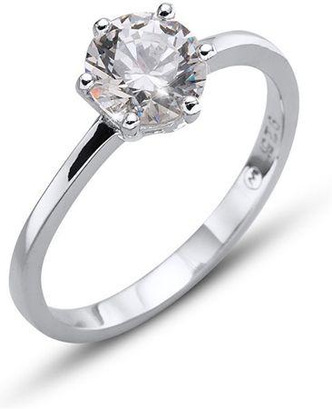 Oliver Weber Strieborný prsteň Morning Brilliance Large 63222 (Obvod M (53 - 55 mm)) striebro 925/1000