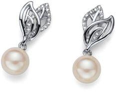 Oliver Weber Něžné náušnice s perličkou Working Lyra 22592