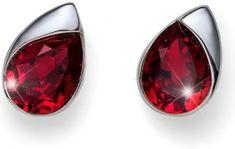 Oliver Weber Náušnice s červeným krystalem Working Be 22595 208