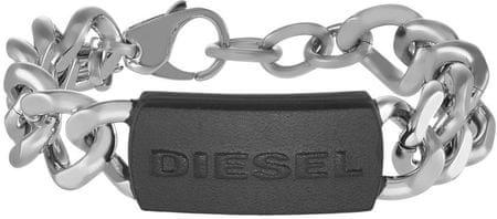 Diesel masywna bransoleta ze stali dla mężczyzn DX1010040