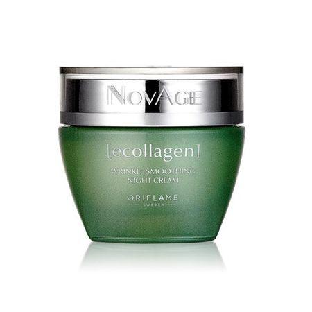 Oriflame Noc wygładzający krem przeciwzmarszczkowy Ecollagen Novagen (zmarszczek wygładzanie Krem na noc) 5