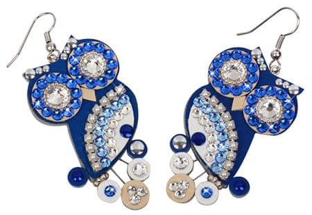 Sovičky Sovie náušnice modré