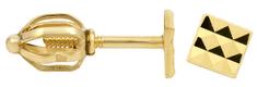Brilio Zlaté náušnice Ozdobné pecičky 231 001 00289 - 1,00 g zlato žluté 585/1000