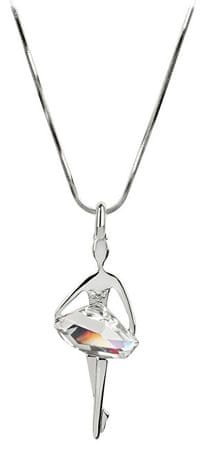 Levien Originální náhrdelník Baletka Silver Shade