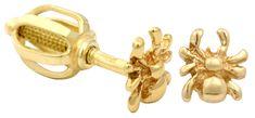Brilio Zlaté dámské náušnice pavoučci 231 001 00454 - 0,95 g zlato žluté 585/1000