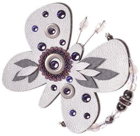 Petra Švarcová Strieborná brošňa Motýľ