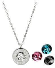 Levien Ocelový náhrdelník 4 v 1 s výměnnými krystaly C-LR-BZ-SN