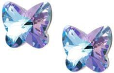 Preciosa Motýlkové náušnice Butterfly Harmony 6058 43 stříbro 925/1000