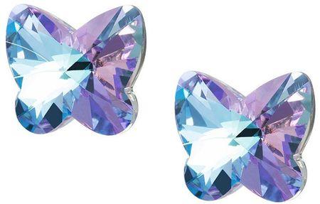 Preciosa Motýlikové náušnice Butterfly Harmony 6058 43 striebro 925/1000