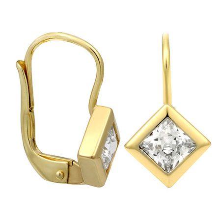 Brilio Zlaté náušnice se zirkony 236 001 00977 - 2,00 g zlato žluté 585/1000