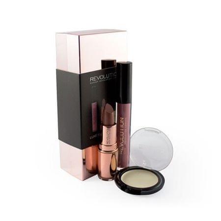 Makeup Revolution Zestaw dekoracyjnych kosmetyków - Kolorowe Rose Złoty pakiet (Luxe Shade Blocks Rose Gold)