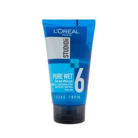 L'Oréal Stylingový gel pro efekt mokrých vlasů Studio Line (Pure Wet 24H Effect Gel) 150 ml
