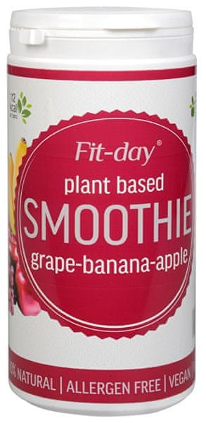 Fit-day Plant based smoothie GRAPE-BANANA-APPLE 600 g