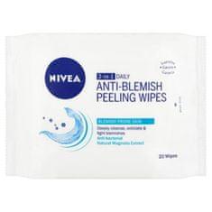 Nivea Hloubkově čisticí peelingové ubrousky 3v1 (Peeling Wipes) 20 ks