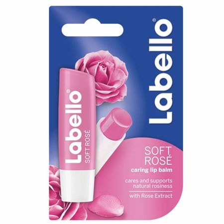 Labello Soft Rosé ajakbalzsam (Caring Lip Balm) 4,8 g