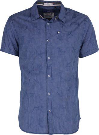 Noize Pánská košile s krátkým rukávem Royal 4448210-00 (Velikost M)