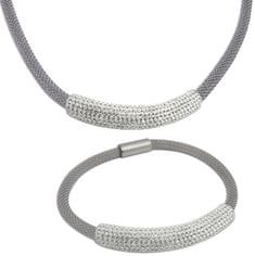 Tribal Sada náhrdelníka a náramku s kryštálmi SET134