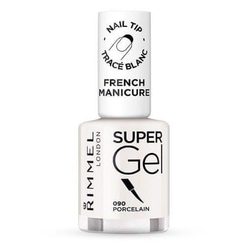 Rimmel Gelový lak na nehty pro francouzskou manikúru (Super Gel French Manicure) 12 ml (Odstín 090 Porcelai