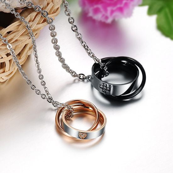 Troli Originalna partnerska ogrlica za ženske KNSC-064-RG