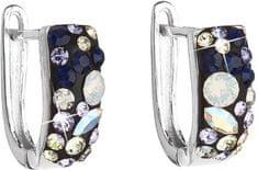 Evolution Group Stylové náušnice s krystaly Indigo 31123.3 stříbro 925/1000