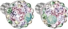 Evolution Group Slušivé náušnice s krystaly Sakura 31136.3 stříbro 925/1000