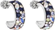 Evolution Group Stylové náušnice s krystaly Indigo 31118.3 stříbro 925/1000