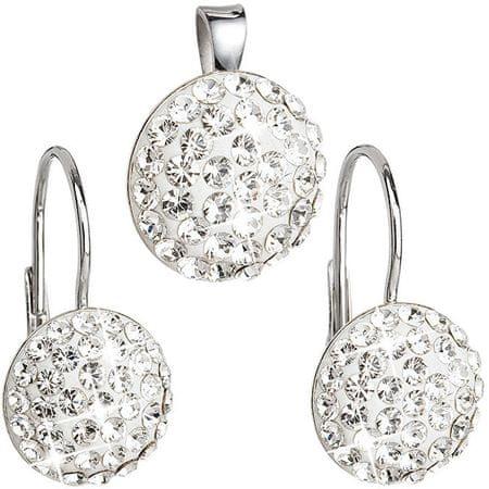 Evolution Group Sada šperkov s kryštálmi Swarovski 39086.1 striebro 925/1000