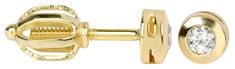 Brilio Zlaté náušnice s krystaly 236 001 00634 - 1,15 g zlato žluté 585/1000