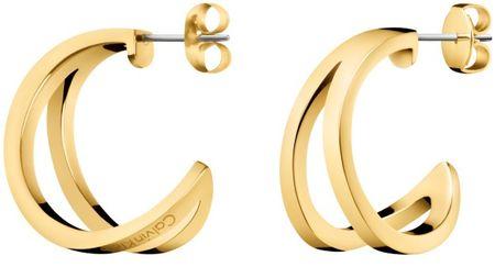 Calvin Klein Luksusowy złoty kolczyk Outline KJ6VJE100100