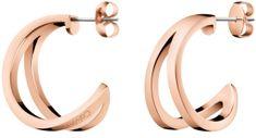 Calvin Klein Luxusní bronzové náušnice Outline KJ6VPE100100