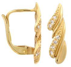 Brilio Zlaté náušnice s krystaly 239 001 00748 - 2,20 g zlato žluté 585/1000