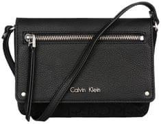 Calvin Klein Kabelka Nadina Logo Flap Light Black