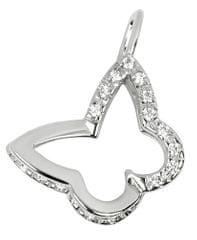 Brilio Přívěsek z bílého zlata s krystaly Motýl 249 001 00496 07 - 0,95 g zlato bílé 585/1000