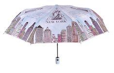 Blooming Brollies Dámský skládací plně automatický deštník Perletti New York 25908A