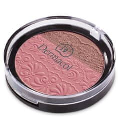 Dermacol DUO tvářenka s reliéfem krajky (Duo Blusher) 8,5 g