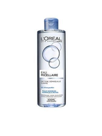 L'Oréal Micelární voda pro normální a smíšenou citlivou pleť 3v1 (Micellar Water) 400 ml