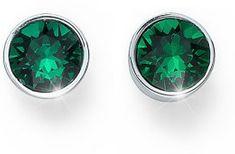Oliver Weber Náušnice pecky se zelenými krystaly Ocean Uno 22623 205