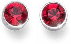 Oliver Weber Náušnice pecky s červenými krystaly Ocean Uno 22623 227