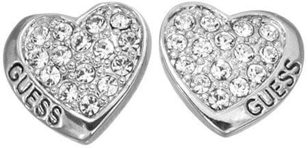 Guess Kolczyki z Crystalowych serc UBE11410