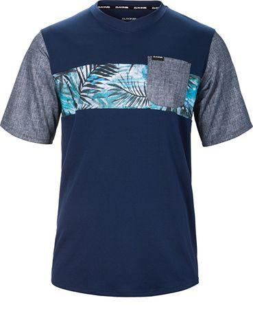 Dakine Pánske tričko Vectra S/S Jersey Midnight/Painted Palm 10001000-S17 (Veľkosť M)